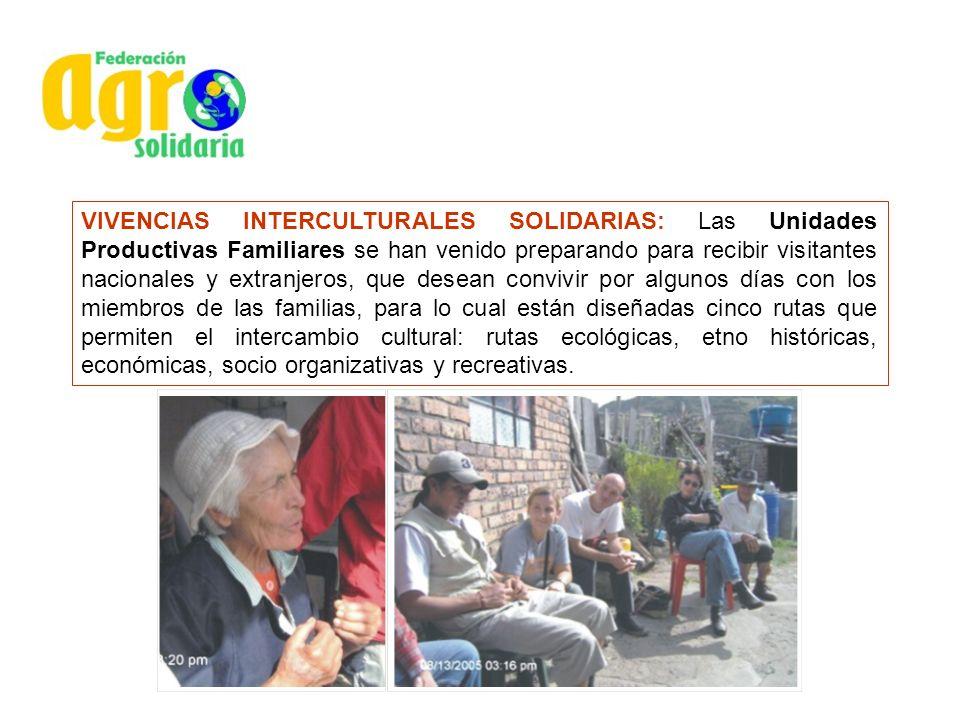 VIVENCIAS INTERCULTURALES SOLIDARIAS: Las Unidades Productivas Familiares se han venido preparando para recibir visitantes nacionales y extranjeros, q