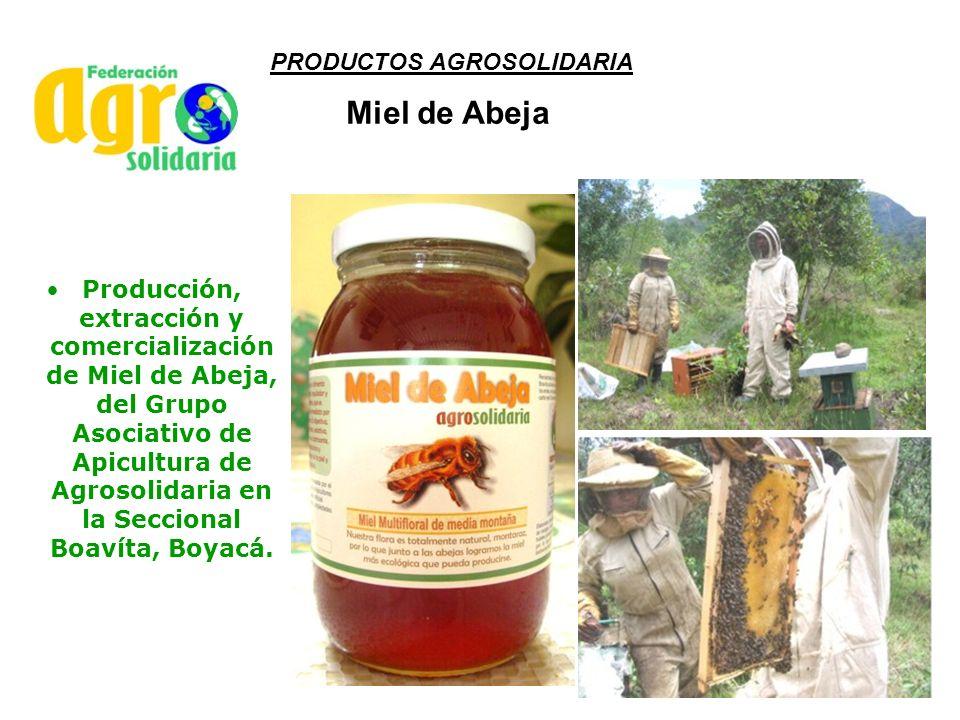 PRODUCTOS AGROSOLIDARIA Producción, extracción y comercialización de Miel de Abeja, del Grupo Asociativo de Apicultura de Agrosolidaria en la Secciona