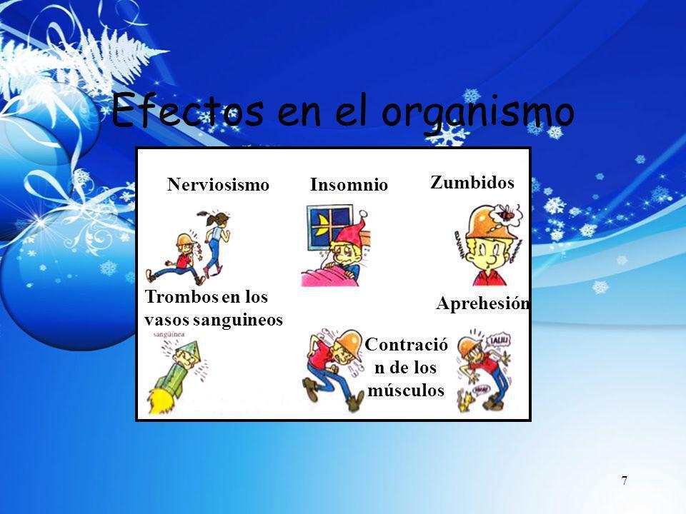 8 Efectos en el trabajo Nervosismo Problemas en la comunicación Incomodidad y cansancio NerviosismoAccidentes Carencia de concentración