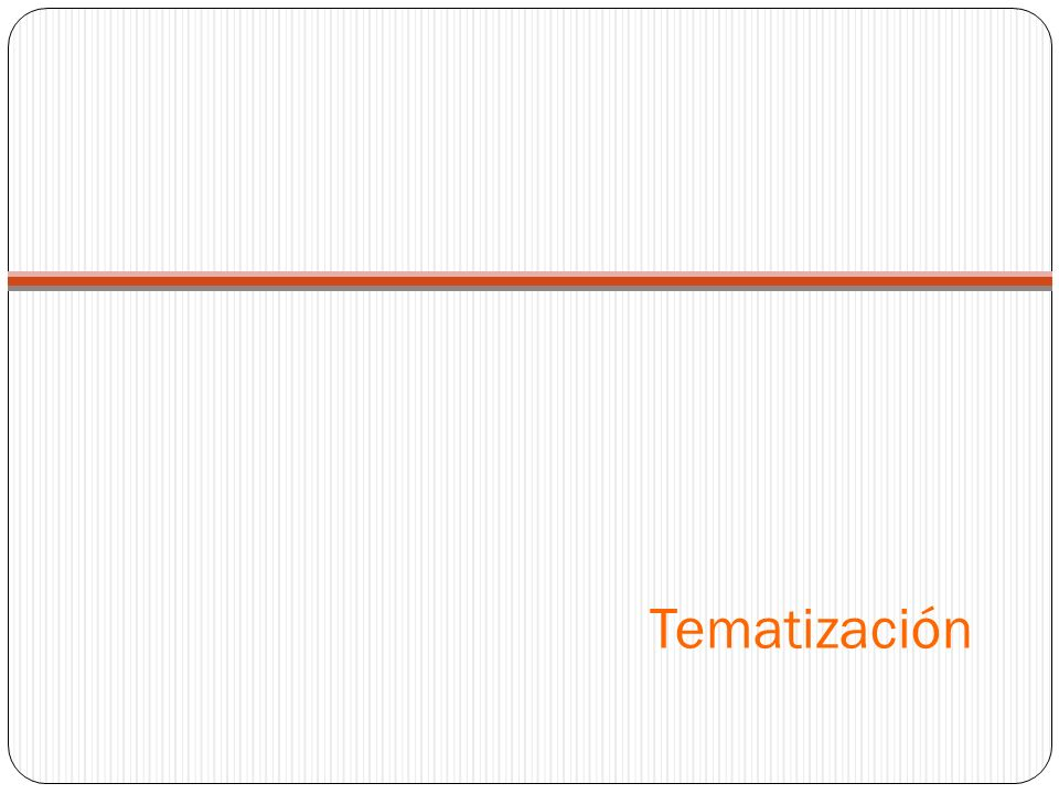Tematización
