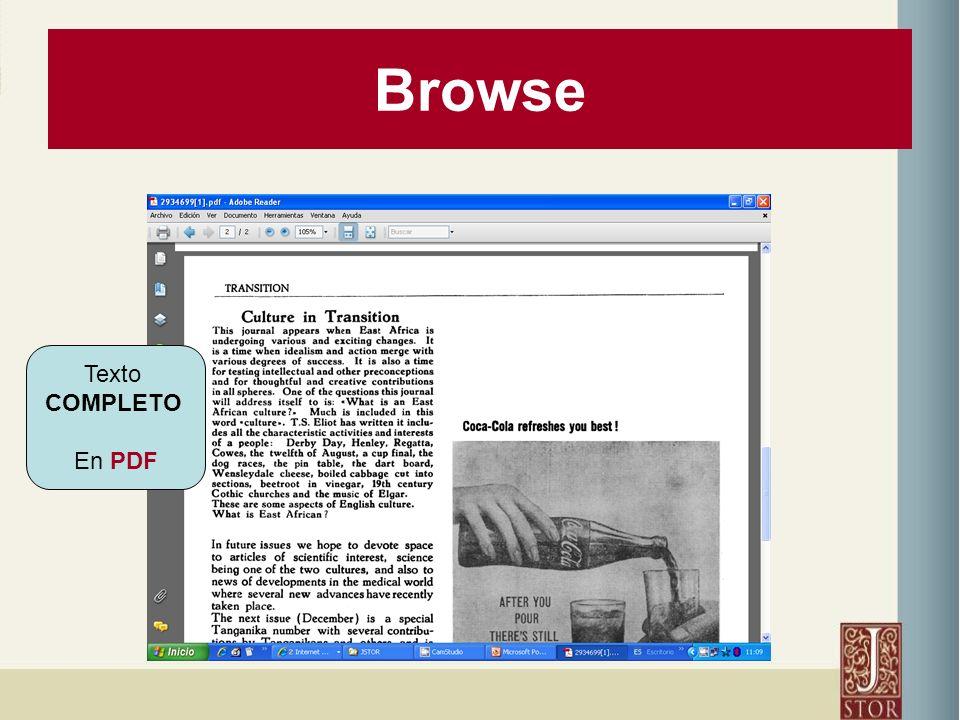 Browse Texto COMPLETO En PDF