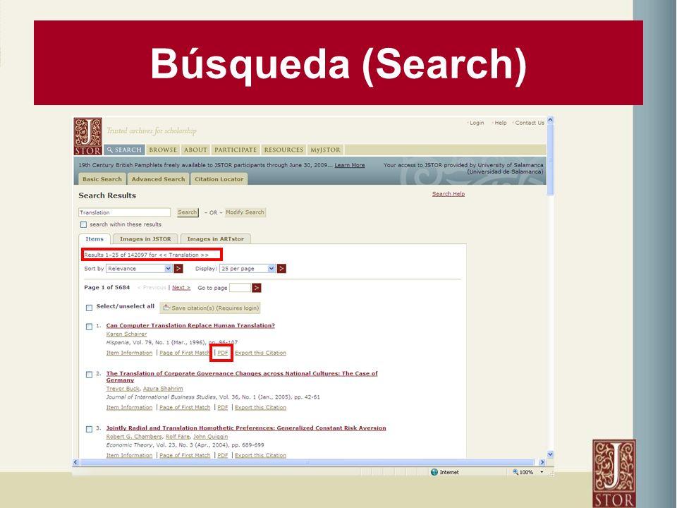 Búsqueda (Search)