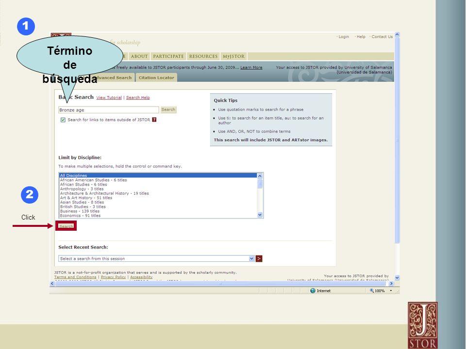 Término de búsqueda Click 1 2