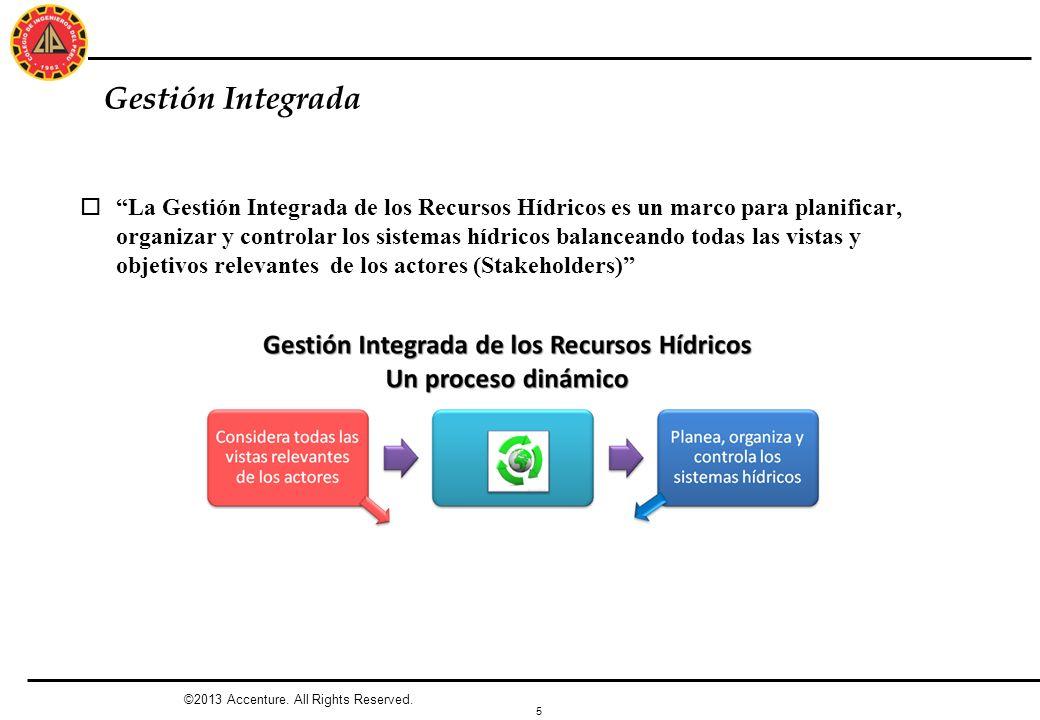 5 Gestión Integrada ©2013 Accenture. All Rights Reserved. oLa Gestión Integrada de los Recursos Hídricos es un marco para planificar, organizar y cont