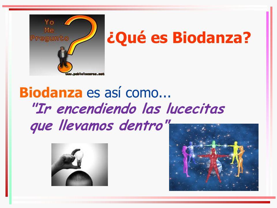 ¿Qué es Biodanza? Biodanza es así como...