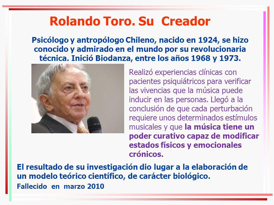 Rolando Toro. Su Creador Psicólogo y antropólogo Chileno, nacido en 1924, se hizo conocido y admirado en el mundo por su revolucionaria técnica. Inici
