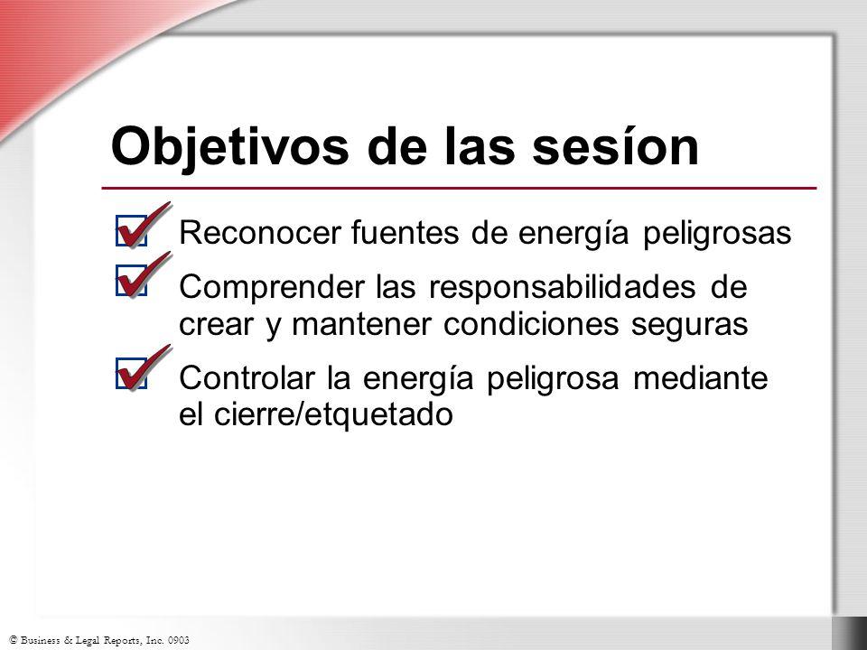 © Business & Legal Reports, Inc.0903 ¿Qué es la energ í a peligrosa.