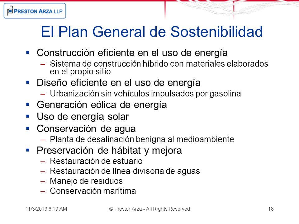 El Plan General de Sostenibilidad Construcción eficiente en el uso de energía –Sistema de construcción híbrido con materiales elaborados en el propio
