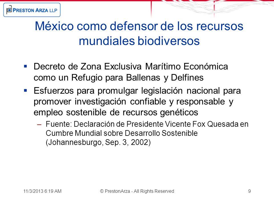 México como defensor de los recursos mundiales biodiversos Decreto de Zona Exclusiva Marítimo Económica como un Refugio para Ballenas y Delfines Esfue