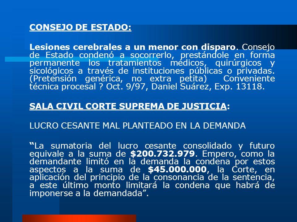 CONSEJO DE ESTADO: Lesiones cerebrales a un menor con disparo. Consejo de Estado condenó a socorrerlo, prestándole en forma permanente los tratamiento