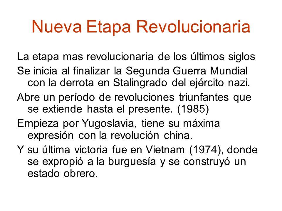 Nueva Etapa Revolucionaria La etapa mas revolucionaria de los últimos siglos Se inicia al finalizar la Segunda Guerra Mundial con la derrota en Stalin