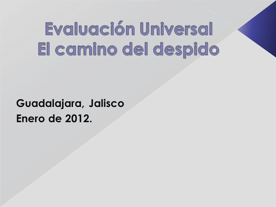 Guadalajara, Jalisco Enero de 2012.