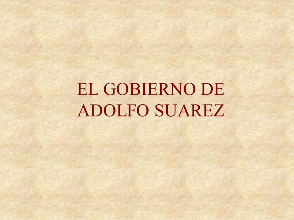 GOBIERNO DE ARIAS NAVARRO 12-XII-75 Arias Navarro fue confirmado como presidente del Gobierno por el rey –No representaba el motor de cambio necesario