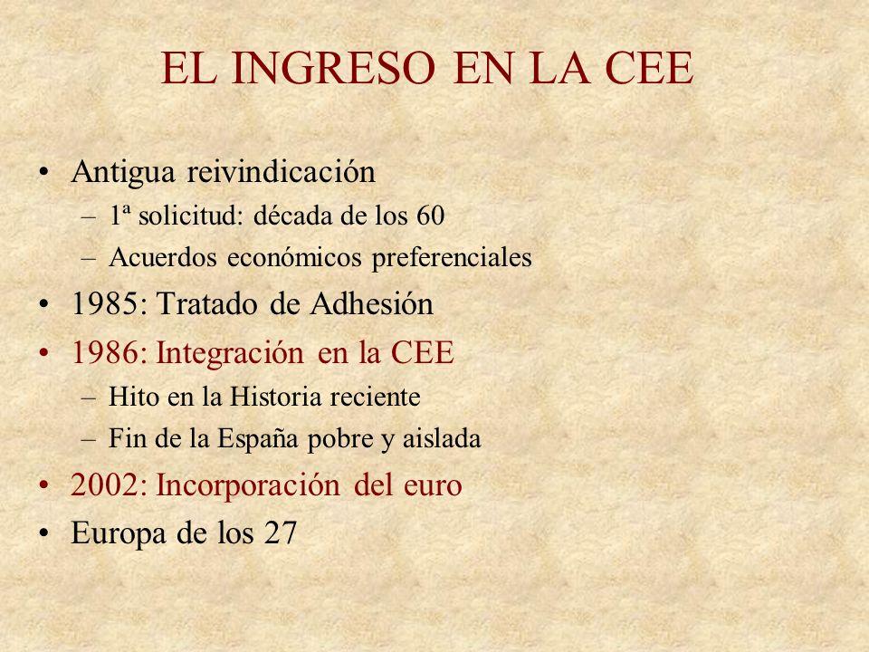 EL TRIUNFO DEL PSOE 28-X-82 mayoría absoluta. Primer gobierno socialista de la Historia de España Por el Cambio –Consolidación institucional de la dem