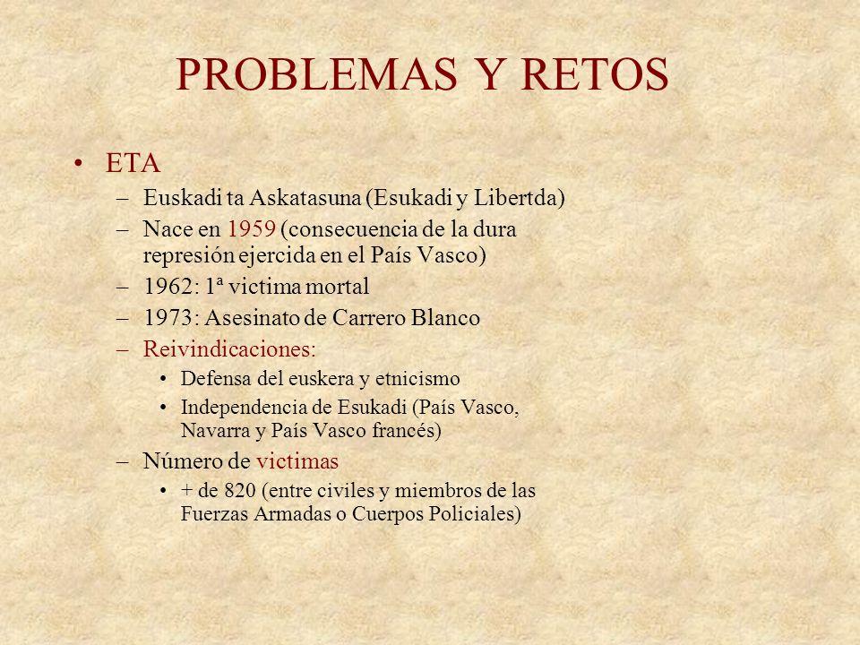 LA ESPAÑA DE HOY 11 de Marzo 2004 –Atentados de Atocha en Madrid 191 muertos 1500 heridos –Al-Qaeda asume la autoría 14 de Marzo: Elecciones generales