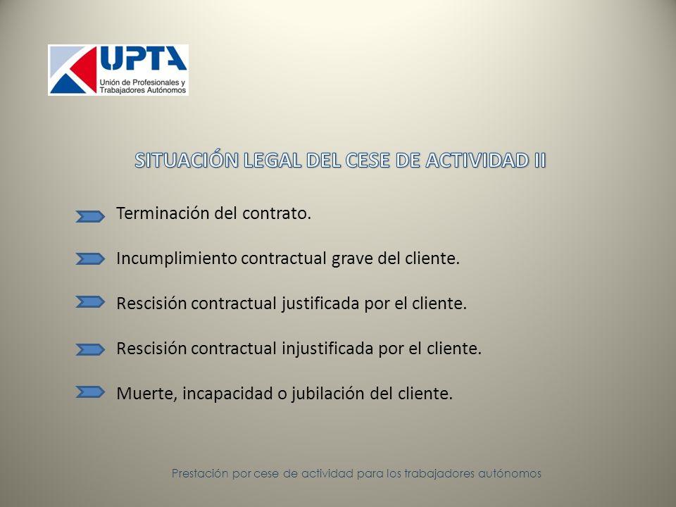 Terminación del contrato. Incumplimiento contractual grave del cliente.