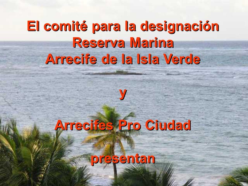 El comité para la designación Reserva Marina Arrecife de la Isla Verde y Arrecifes Pro Ciudad presentan El comité para la designación Reserva Marina A