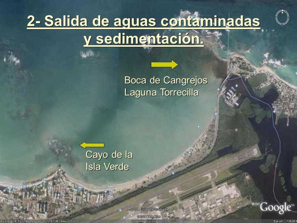 Cayo de la Isla Verde Cayo de la Isla Verde Boca de Cangrejos Laguna Torrecilla Boca de Cangrejos Laguna Torrecilla 2- Salida de aguas contaminadas y