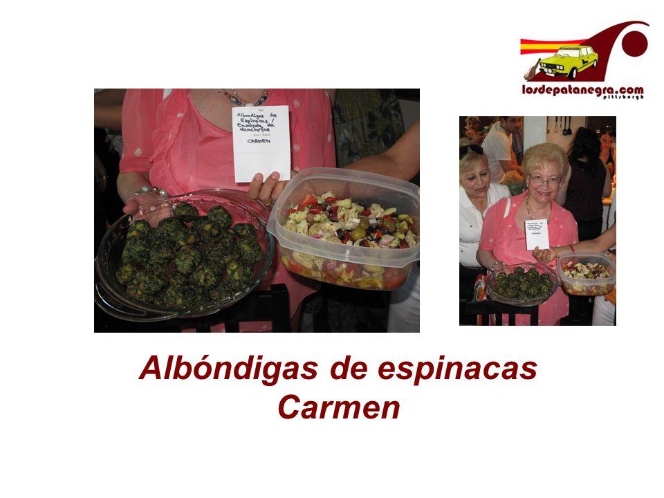 Albóndigas de espinacas Carmen
