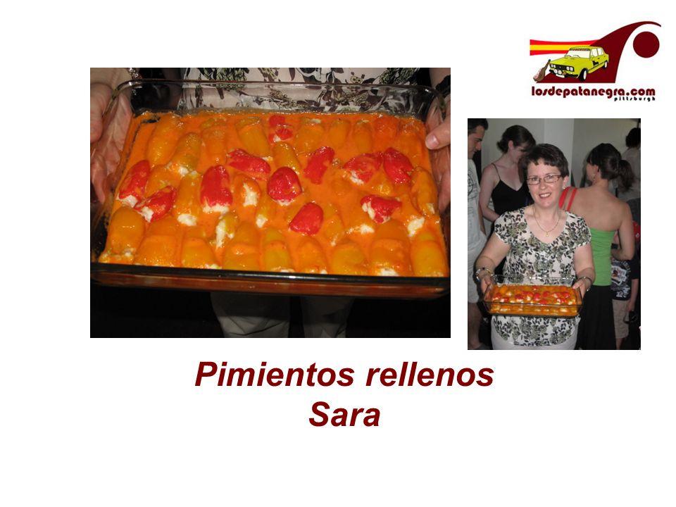 Pimientos rellenos Sara