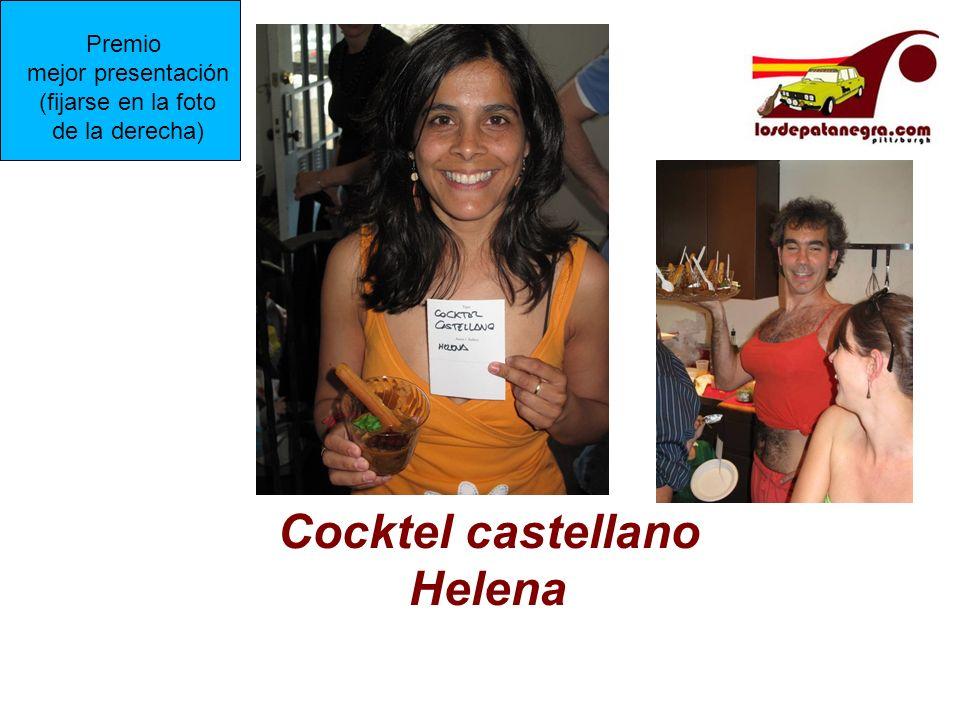 Cocktel castellano Helena Premio mejor presentación (fijarse en la foto de la derecha)