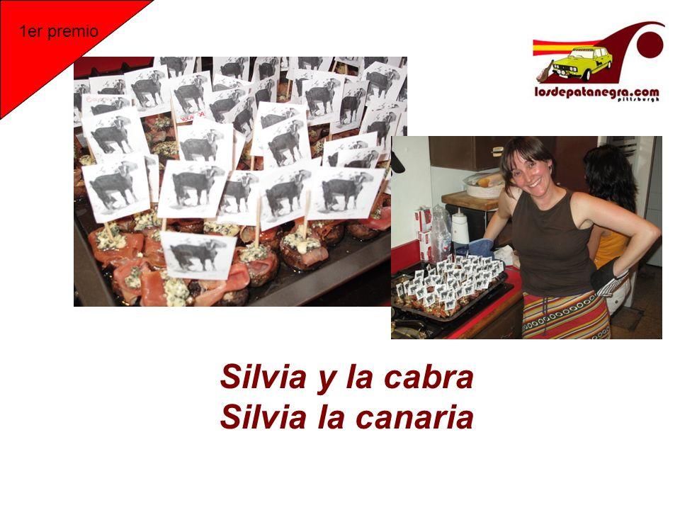 Silvia y la cabra Silvia la canaria 1er premio