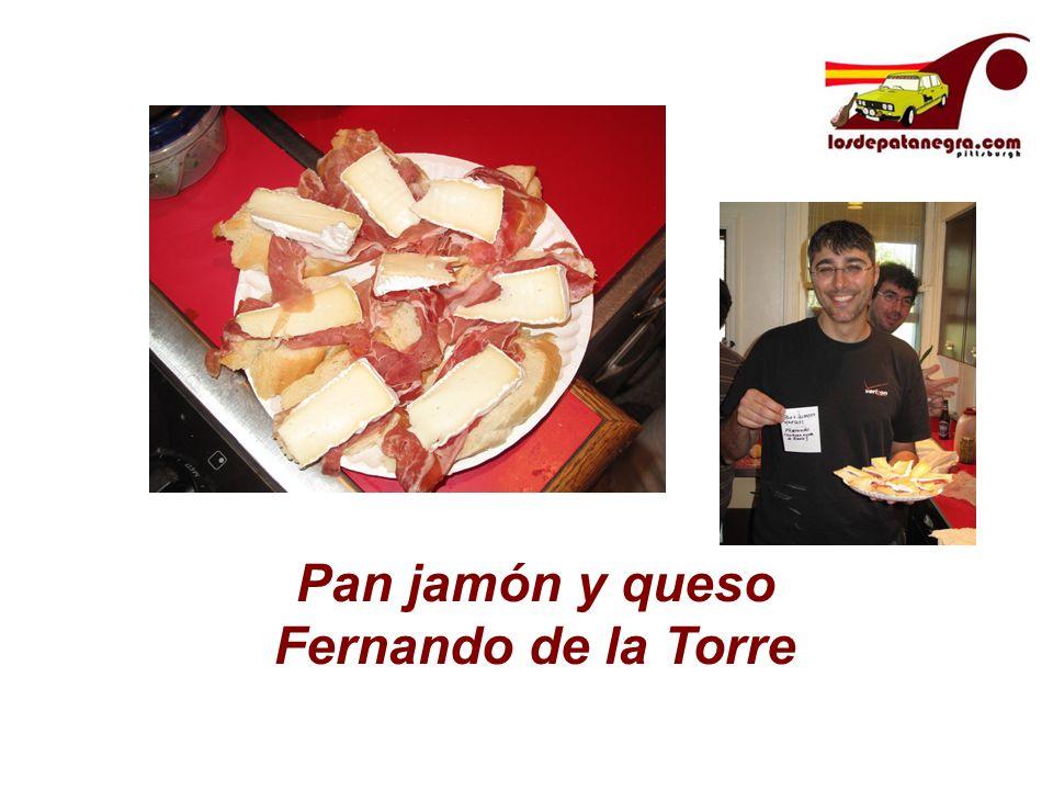 Pan jamón y queso Fernando de la Torre