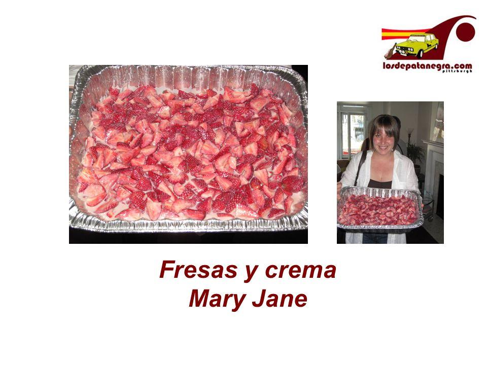 Fresas y crema Mary Jane