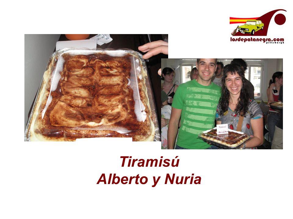Tiramisú Alberto y Nuria
