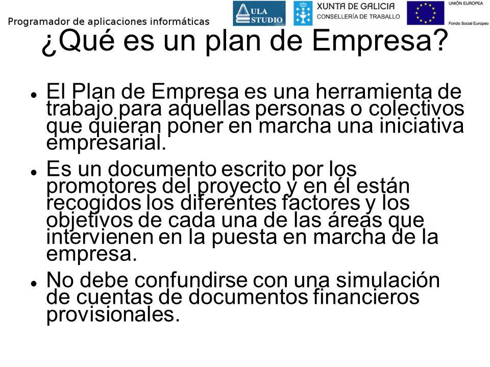 El Plan de Empresa es una herramienta de trabajo para aquellas personas o colectivos que quieran poner en marcha una iniciativa empresarial. Es un doc