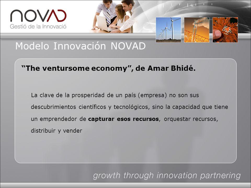 Modelo Innovación NOVAD The ventursome economy, de Amar Bhidé.
