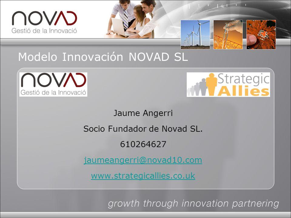 Modelo Innovación NOVAD SL Jaume Angerri Socio Fundador de Novad SL.