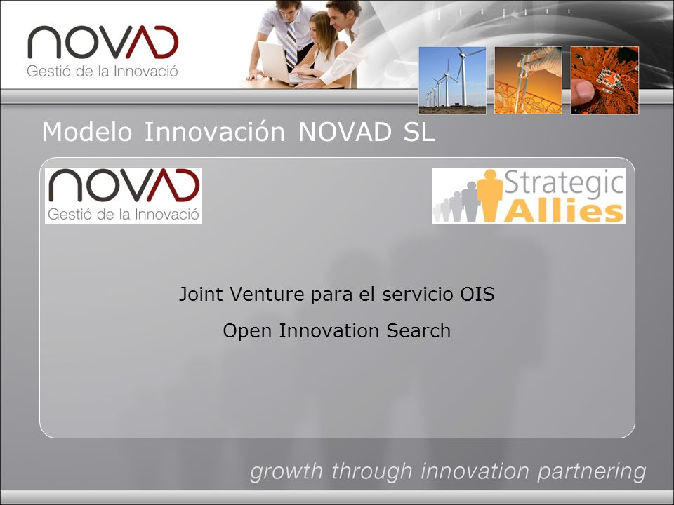 Modelo Innovación NOVAD SL Joint Venture para el servicio OIS Open Innovation Search