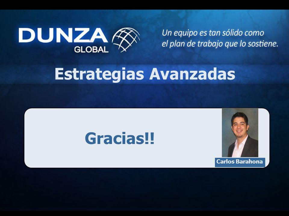 Gracias!! Estrategias Avanzadas Carlos Barahona