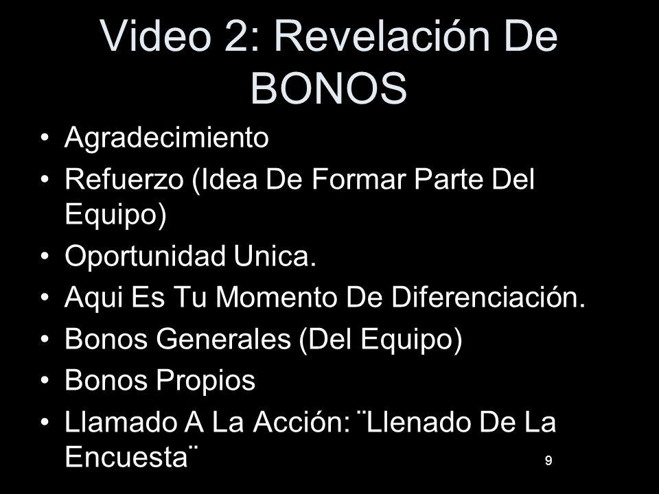 Video 2: Revelación De BONOS Agradecimiento Refuerzo (Idea De Formar Parte Del Equipo) Oportunidad Unica. Aqui Es Tu Momento De Diferenciación. Bonos