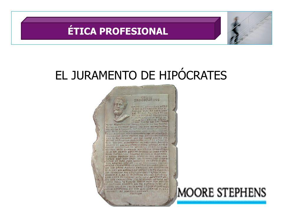 EL JURAMENTO DE HIPÓCRATES ÉTICA PROFESIONAL