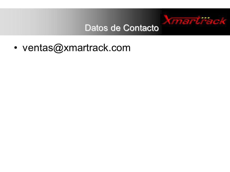ventas@xmartrack.com Datos de Contacto