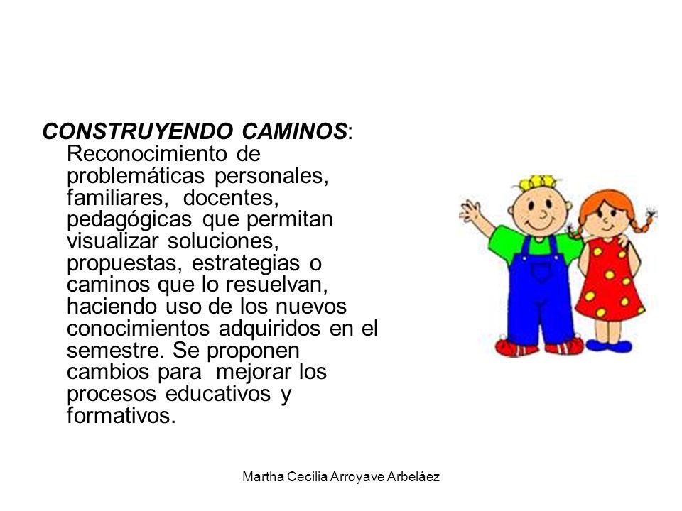CONSTRUYENDO CAMINOS: Reconocimiento de problemáticas personales, familiares, docentes, pedagógicas que permitan visualizar soluciones, propuestas, es