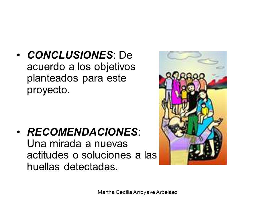 CONCLUSIONES: De acuerdo a los objetivos planteados para este proyecto. RECOMENDACIONES: Una mirada a nuevas actitudes o soluciones a las huellas dete