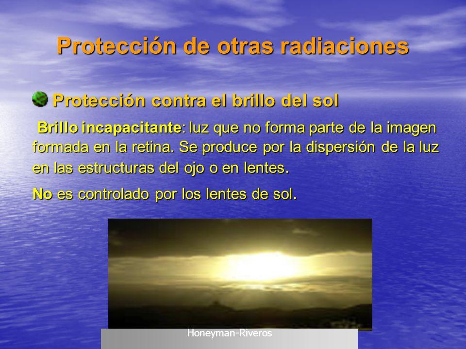 Protección contra el brillo del sol Protección contra el brillo del sol Brillo incapacitante: luz que no forma parte de la imagen formada en la retina