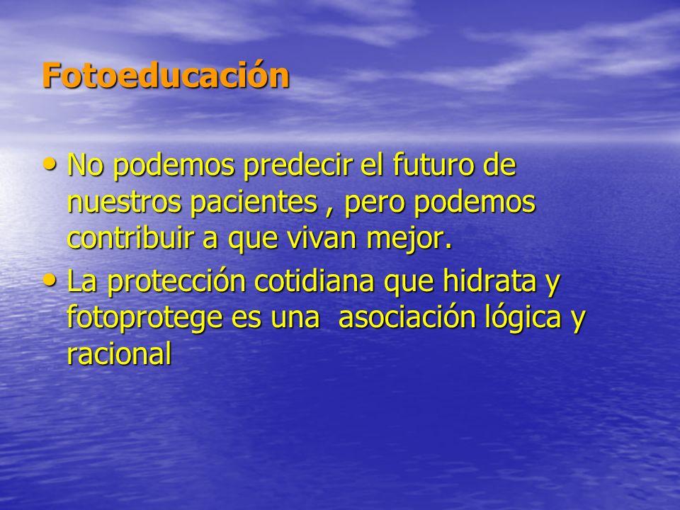 Fotoeducación No podemos predecir el futuro de nuestros pacientes, pero podemos contribuir a que vivan mejor. No podemos predecir el futuro de nuestro