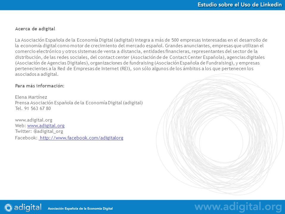 Acerca de adigital La Asociación Española de la Economía Digital (adigital) integra a más de 500 empresas interesadas en el desarrollo de la economía