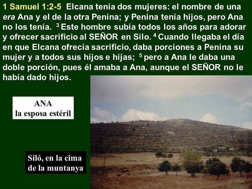 1 Samuel 1:2-5 Elcana tenía dos mujeres: el nombre de una era Ana y el de la otra Penina; y Penina tenía hijos, pero Ana no los tenía. 3 Este hombre s