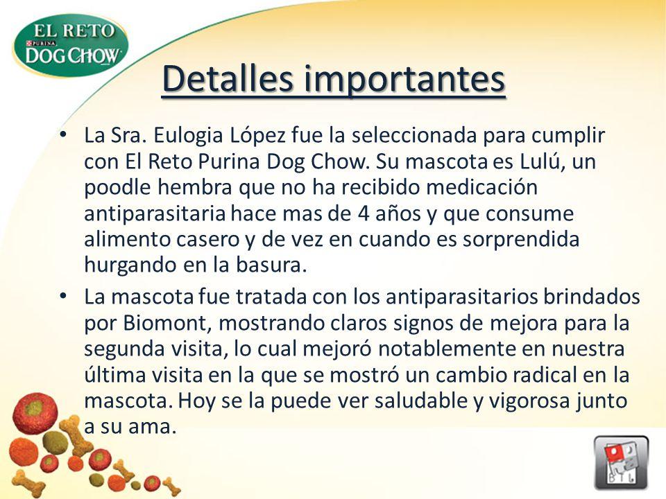 DATA INICIAL Inicialmente Lulú obtuvo un puntaje de 20 otorgado por los veterinarios, lo cual se traduce como una mascota que es alegre y juguetona, pero que ha estado teniendo últimamente algunos problemas estomacales.