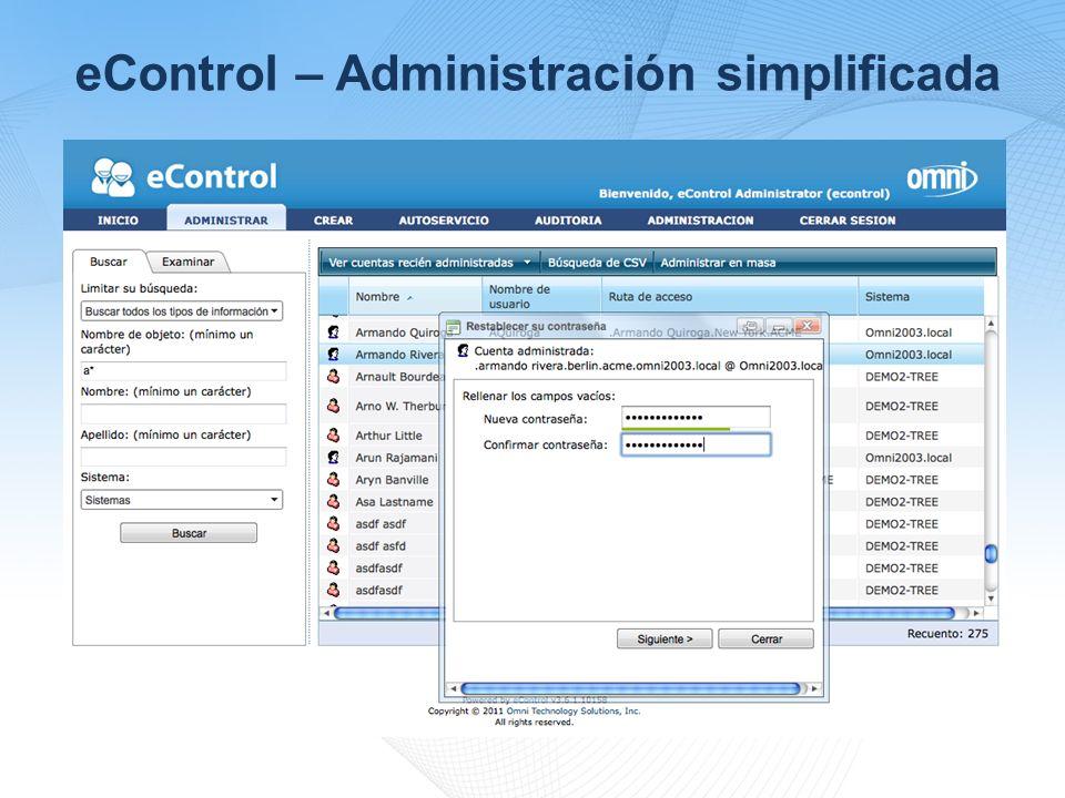 eControl – Administración simplificada