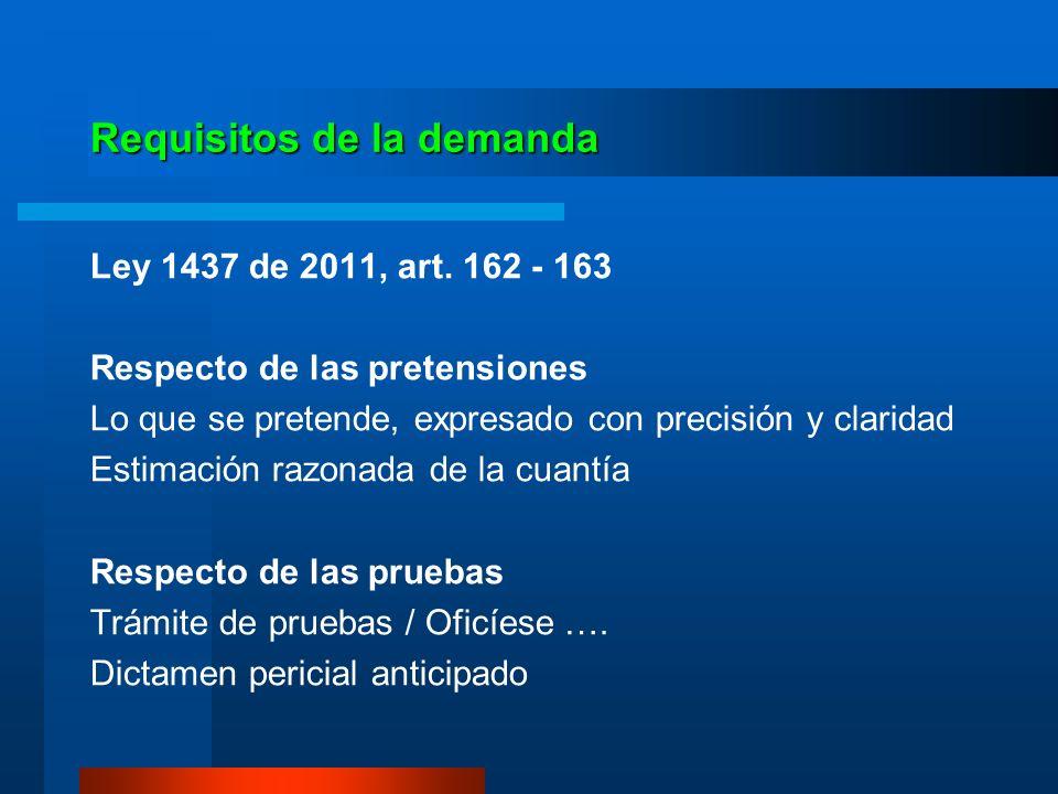 Término de caducidad de la acción Ley 1437 de 2011, art.