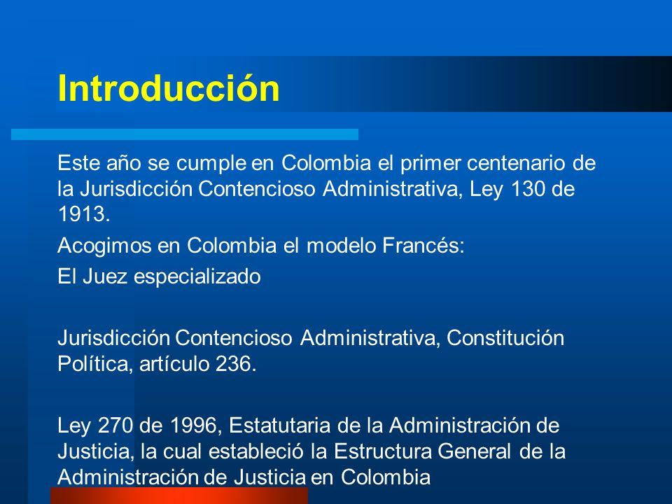 Estructura General de la Administración de Justicia en Colombia JURISDICCIÓN ORDINARIA – Corte Suprema de Justicia – Tribunales Superiores de Distrito Judicial – Juzgados civiles, laborales, penales, y de familia JURISDICCIÓN DE LO CONTENCIOSO ADMINISTRATIVO – Consejo de Estado – Tribunales Administrativos – Juzgados Administrativos JURISDICCIÓN CONSTITUCIONAL – Corte Constitucional FISCALÍA GENERAL DE LA NACIÓN