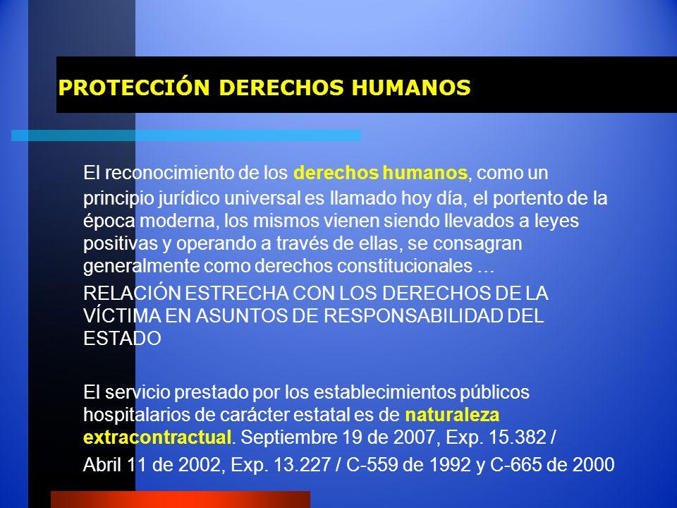 PROTECCIÓN DERECHOS HUMANOS El reconocimiento de los derechos humanos, como un principio jurídico universal es llamado hoy día, el portento de la époc