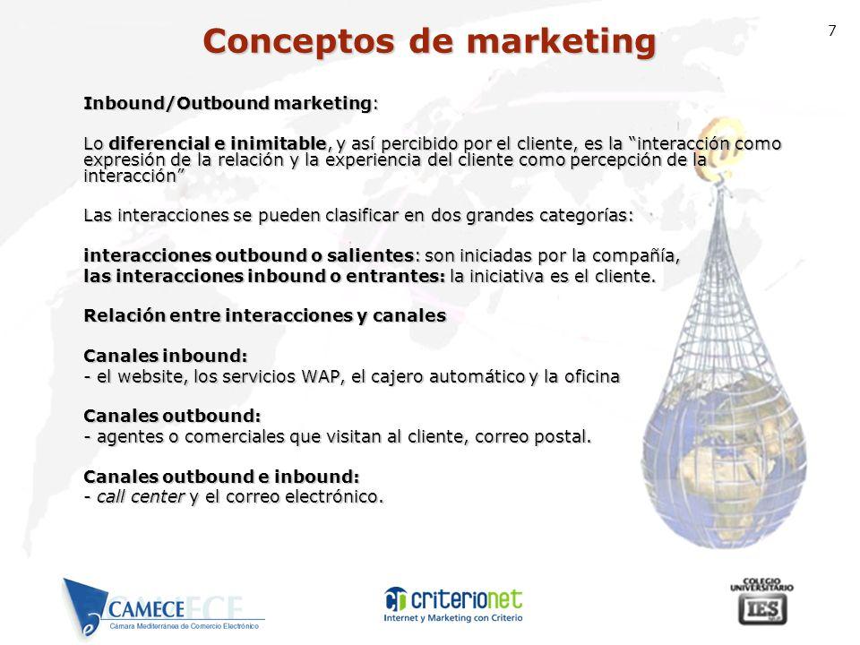 7 Inbound/Outbound marketing: Lo diferencial e inimitable, y así percibido por el cliente, es la interacción como expresión de la relación y la experi