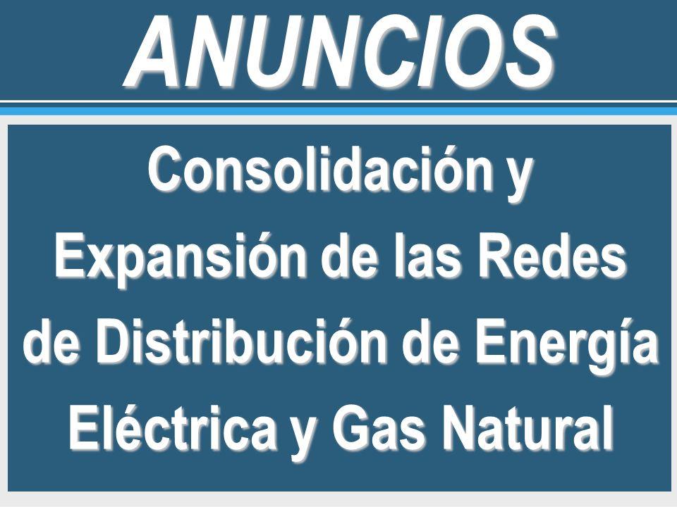 Consolidación y Expansión de las Redes de Distribución de Energía Eléctrica y Gas Natural ANUNCIOS